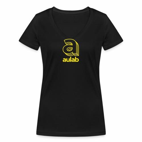Marchio aulab giallo - T-shirt ecologica da donna con scollo a V di Stanley & Stella