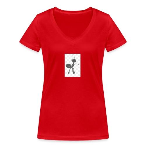 YouTube merche 2018 - Vrouwen bio T-shirt met V-hals van Stanley & Stella