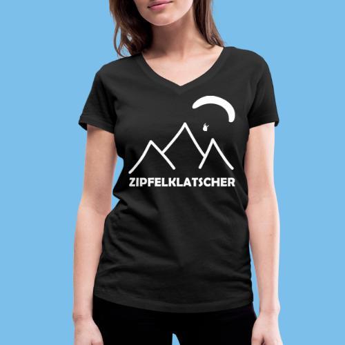 gleitschirmflieger paragliding geschenk T-shirt - Frauen Bio-T-Shirt mit V-Ausschnitt von Stanley & Stella