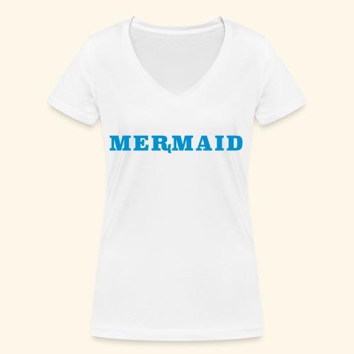 Mermaid logo - Ekologisk T-shirt med V-ringning dam från Stanley & Stella