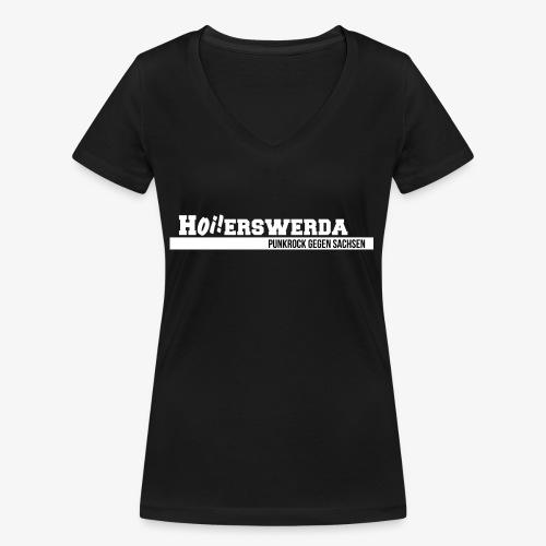 Logo Hoierswerda transparent - Frauen Bio-T-Shirt mit V-Ausschnitt von Stanley & Stella