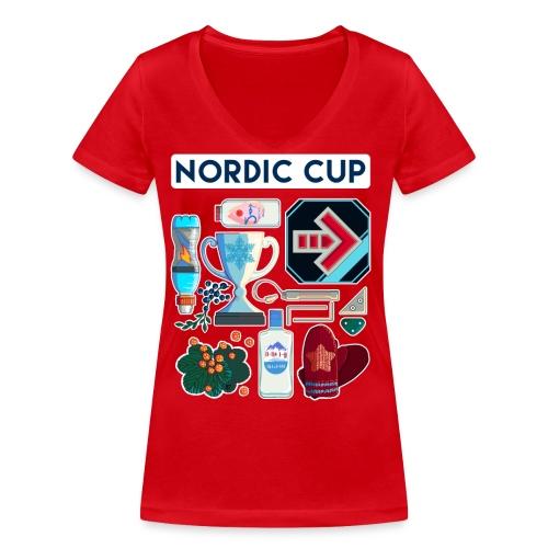 Nordic 2018 - Stanley & Stellan naisten v-aukkoinen luomu-T-paita
