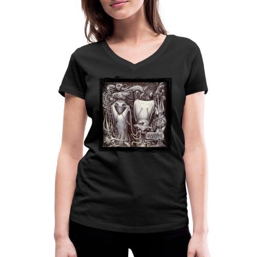 Abbinormal.....GrindCore Metal Band - T-shirt ecologica da donna con scollo a V di Stanley & Stella