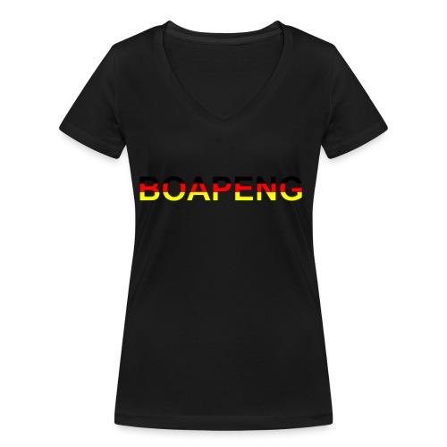 Boapeng - Frauen Bio-T-Shirt mit V-Ausschnitt von Stanley & Stella
