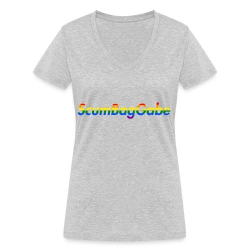 ScumBagGabe Multi Logo XL - Women's Organic V-Neck T-Shirt by Stanley & Stella