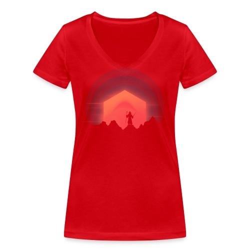 The Nightly Adventure D20 - DnD Dungeons Dragons - Stanley & Stellan naisten v-aukkoinen luomu-T-paita