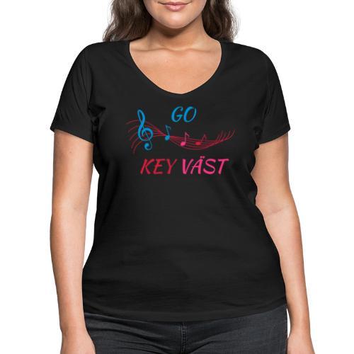 Go Key Vast svart - Ekologisk T-shirt med V-ringning dam från Stanley & Stella