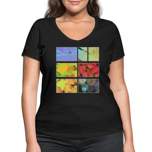 Seven storys - Ekologisk T-shirt med V-ringning dam från Stanley & Stella