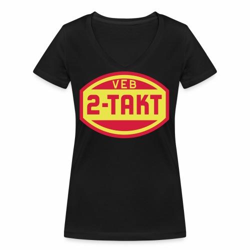 VEB 2-Takt Logo (2c) - Women's Organic V-Neck T-Shirt by Stanley & Stella