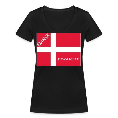 Dänemark 21.1 - Frauen Bio-T-Shirt mit V-Ausschnitt von Stanley & Stella