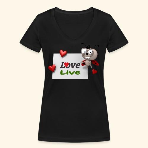 Draw_2017_05 - T-shirt ecologica da donna con scollo a V di Stanley & Stella