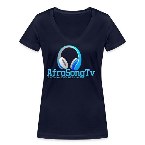 logo - Camiseta ecológica mujer con cuello de pico de Stanley & Stella