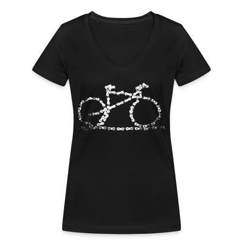 bike3_large - Women's Organic V-Neck T-Shirt by Stanley & Stella