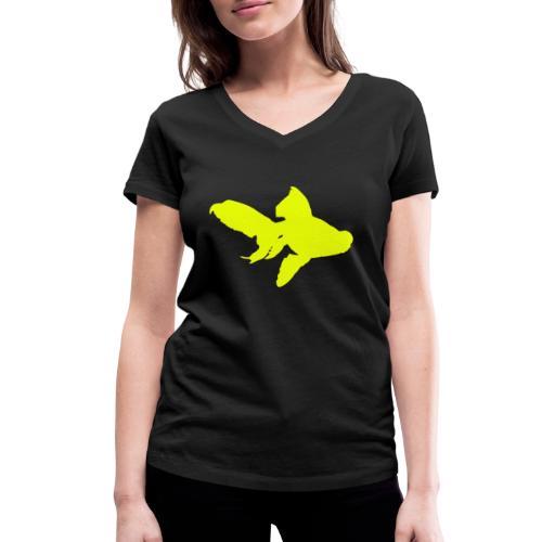 black moor - T-shirt ecologica da donna con scollo a V di Stanley & Stella