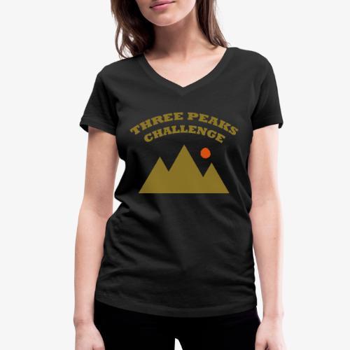 Three Peaks Challenge - Women's Organic V-Neck T-Shirt by Stanley & Stella