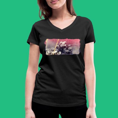 tireur couche - T-shirt bio col V Stanley & Stella Femme