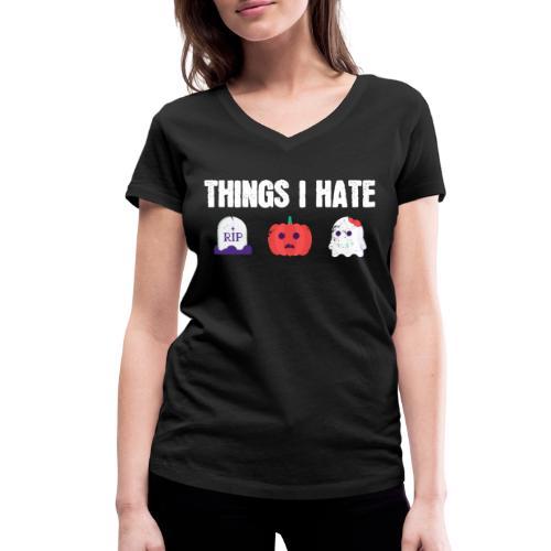 Fuck Halloween Gegen Nein Anti Shirt - Frauen Bio-T-Shirt mit V-Ausschnitt von Stanley & Stella