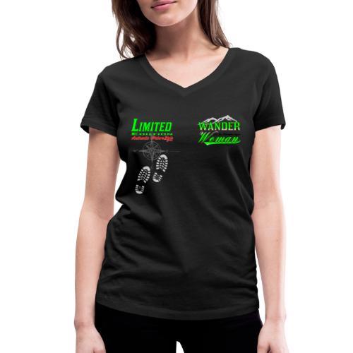 Wandern Limited Edition Wander Woman - Frauen Bio-T-Shirt mit V-Ausschnitt von Stanley & Stella
