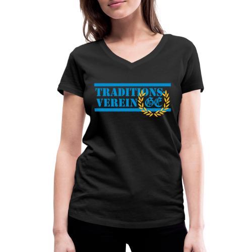 Traditionsverein - Frauen Bio-T-Shirt mit V-Ausschnitt von Stanley & Stella