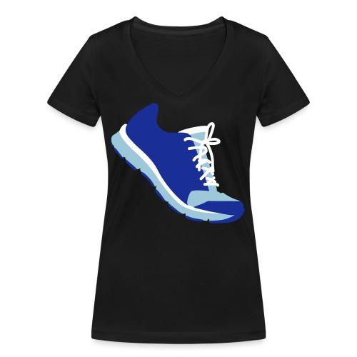 Laufschuh - Frauen Bio-T-Shirt mit V-Ausschnitt von Stanley & Stella