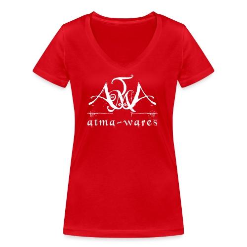atma wares logo white - Vrouwen bio T-shirt met V-hals van Stanley & Stella