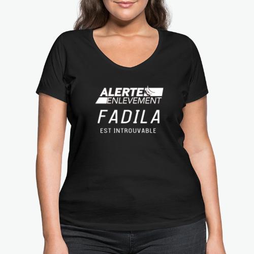 ALERTE ENLEVEMENT - T-shirt bio col V Stanley & Stella Femme