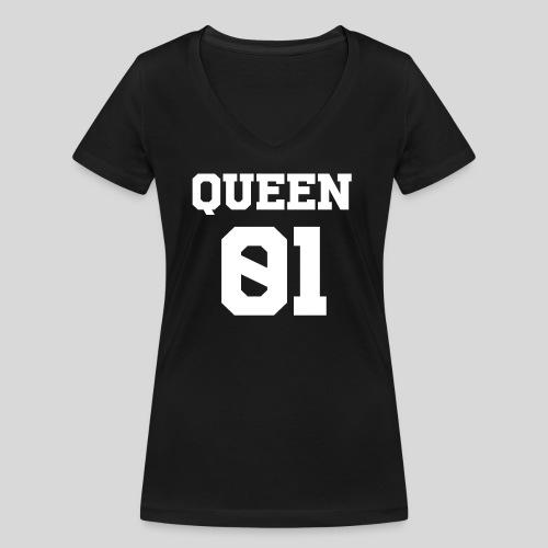 QUEEN - Camiseta ecológica mujer con cuello de pico de Stanley & Stella