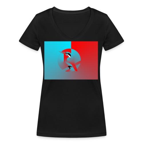 Vogel - Frauen Bio-T-Shirt mit V-Ausschnitt von Stanley & Stella