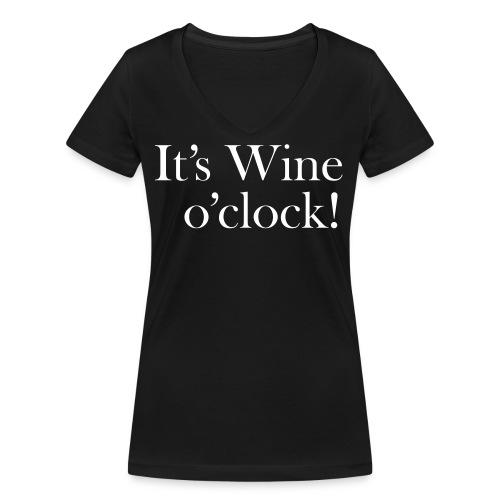 It's Wine o'clock - Ekologisk T-shirt med V-ringning dam från Stanley & Stella