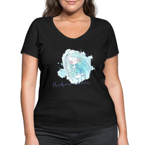 Nordseemädchen Papierboot - Frauen Bio-T-Shirt mit V-Ausschnitt von Stanley & Stella