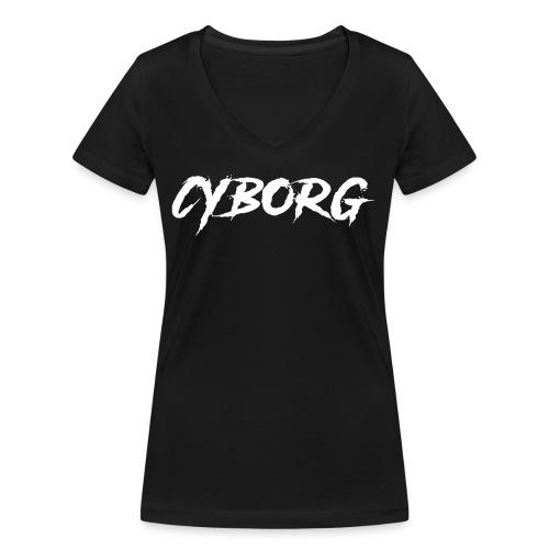 Sweat bordeaux à capuche Cyborg - T-shirt bio col V Stanley & Stella Femme