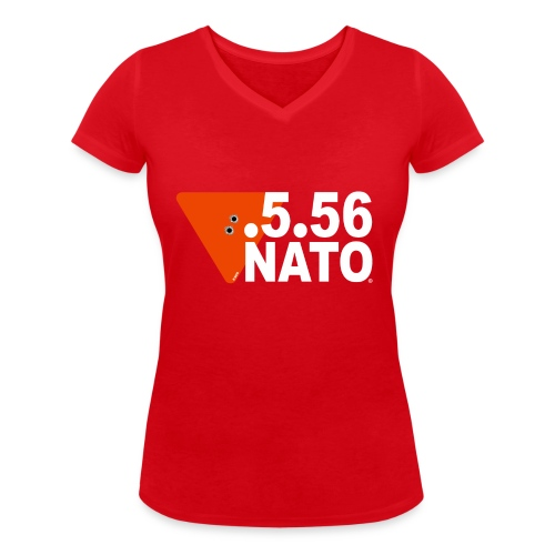 .5.56 NATO BLANC - T-shirt bio col V Stanley & Stella Femme