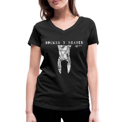 Nocked `n´ Loaded - Frauen Bio-T-Shirt mit V-Ausschnitt von Stanley & Stella