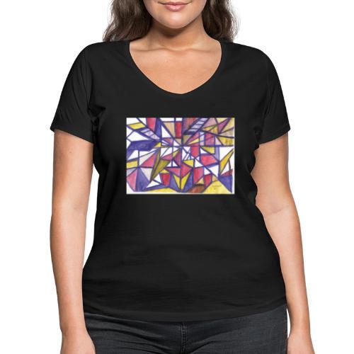 Flickenteppich - Frauen Bio-T-Shirt mit V-Ausschnitt von Stanley & Stella