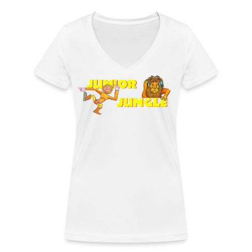 T-charax-logo - Women's Organic V-Neck T-Shirt by Stanley & Stella