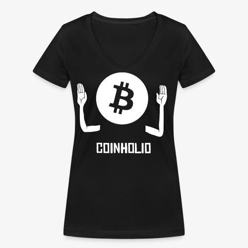 HODL coin holio-w - Women's Organic V-Neck T-Shirt by Stanley & Stella