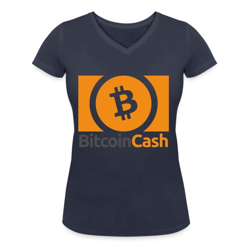 Bitcoin Cash - Stanley & Stellan naisten v-aukkoinen luomu-T-paita