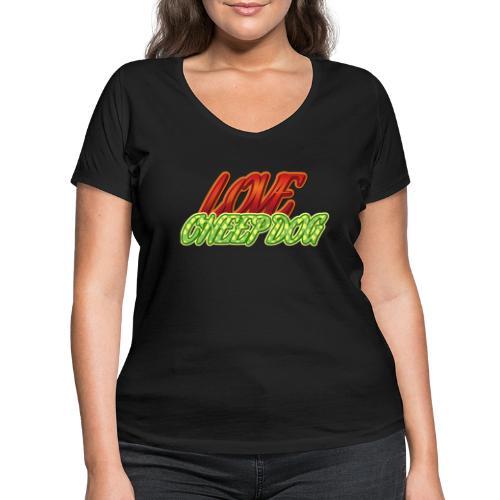 Love Cheep Dog - Frauen Bio-T-Shirt mit V-Ausschnitt von Stanley & Stella