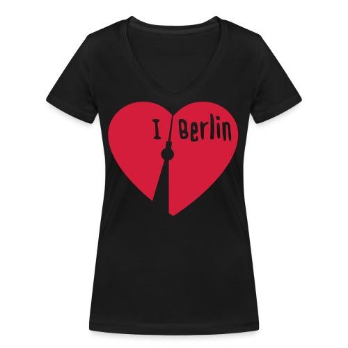 I love Berlin (1-farbig) - Frauen Bio-T-Shirt mit V-Ausschnitt von Stanley & Stella
