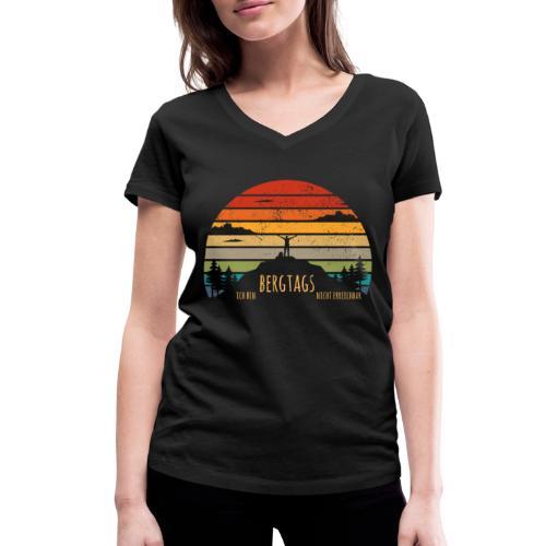 lustige Wanderer Sprüche Shirt Geschenk Retro - Frauen Bio-T-Shirt mit V-Ausschnitt von Stanley & Stella
