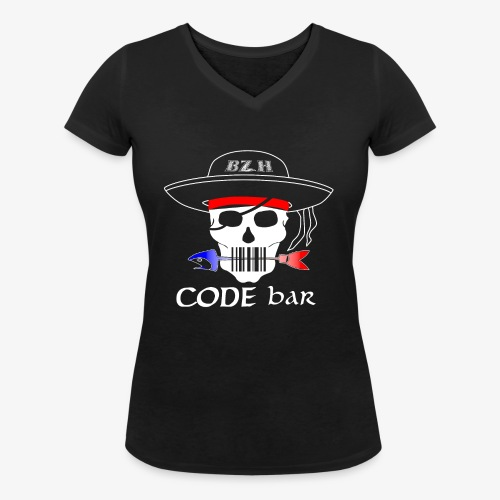 Code Bar white - T-shirt bio col V Stanley & Stella Femme