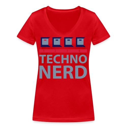 Techno Nerd - Women's Organic V-Neck T-Shirt by Stanley & Stella