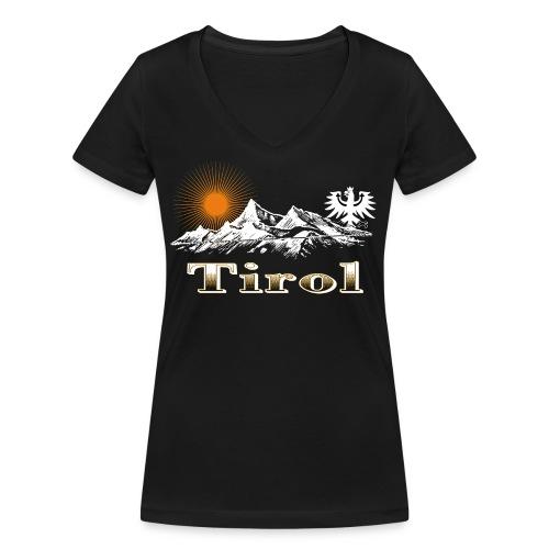 Tiroler Berge - Frauen Bio-T-Shirt mit V-Ausschnitt von Stanley & Stella