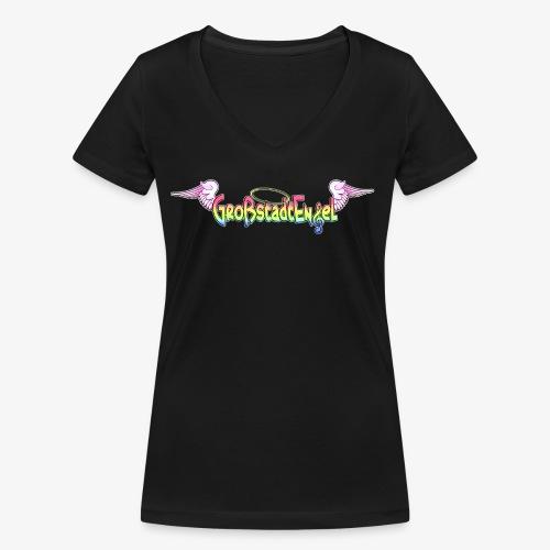 GrossstadtEngel Kindermode und Merchandise - Frauen Bio-T-Shirt mit V-Ausschnitt von Stanley & Stella
