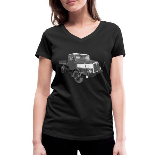 Lkw IFA S 4000 Kipper Werdau DDR Oldtimer - Frauen Bio-T-Shirt mit V-Ausschnitt von Stanley & Stella