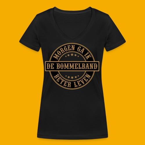 bb logo rond shirt - Vrouwen bio T-shirt met V-hals van Stanley & Stella