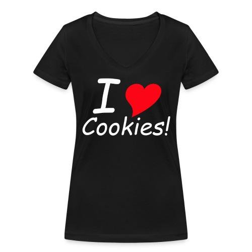 ilovecokies - Frauen Bio-T-Shirt mit V-Ausschnitt von Stanley & Stella
