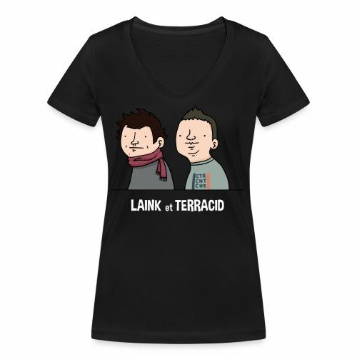 Laink et Terracid old - T-shirt bio col V Stanley & Stella Femme