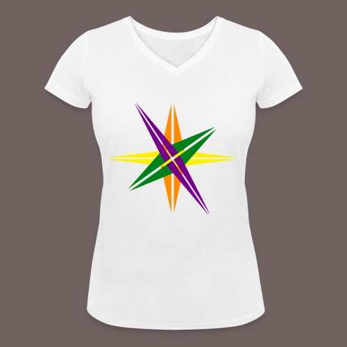 GBIGBO zjebeezjeboo - Love - Shining Star Color - T-shirt bio col V Stanley & Stella Femme