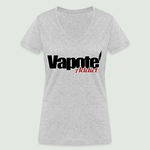 vapote addict - T-shirt bio col V Stanley & Stella Femme